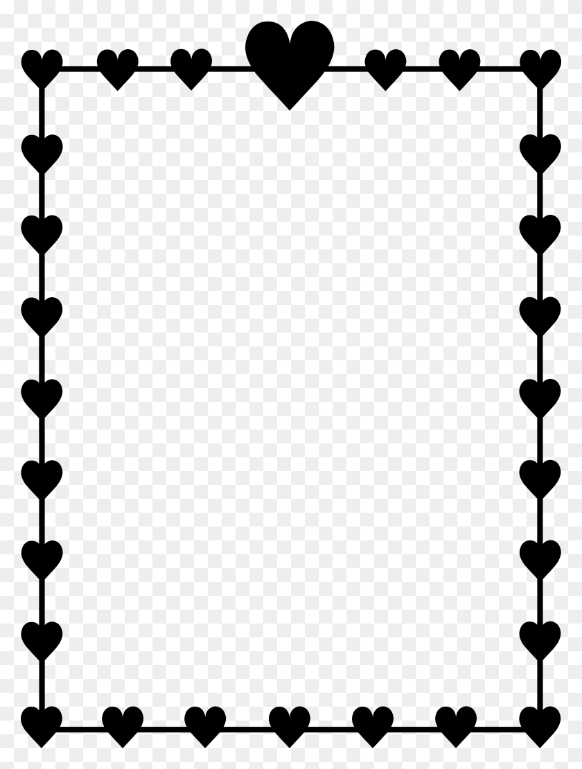 Images For Corner Border Design Heart - Corner Design Clipart
