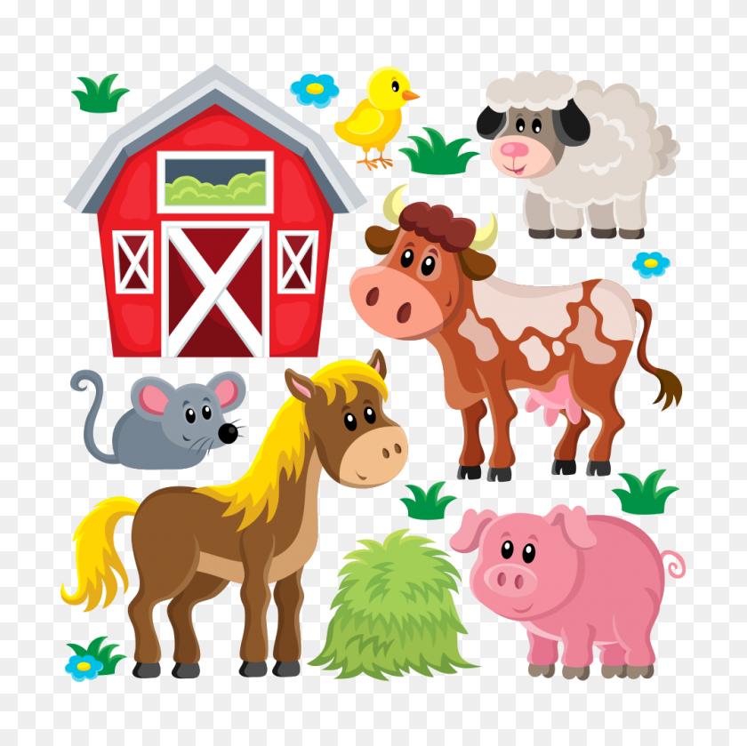 Images Of Farm Animal Clip Art Off Premium Animals Vectors - Animal Farm Clipart