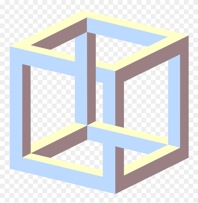 1200x1235 Impossible Cube - Table Of Contents Clipart