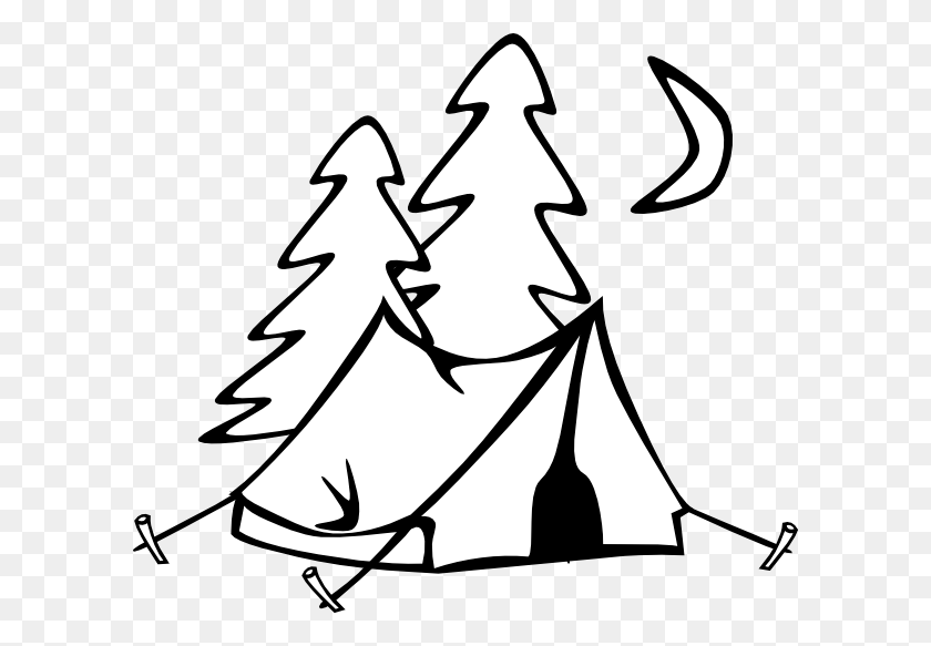 In Tents Clip Art - White Christmas Tree Clipart