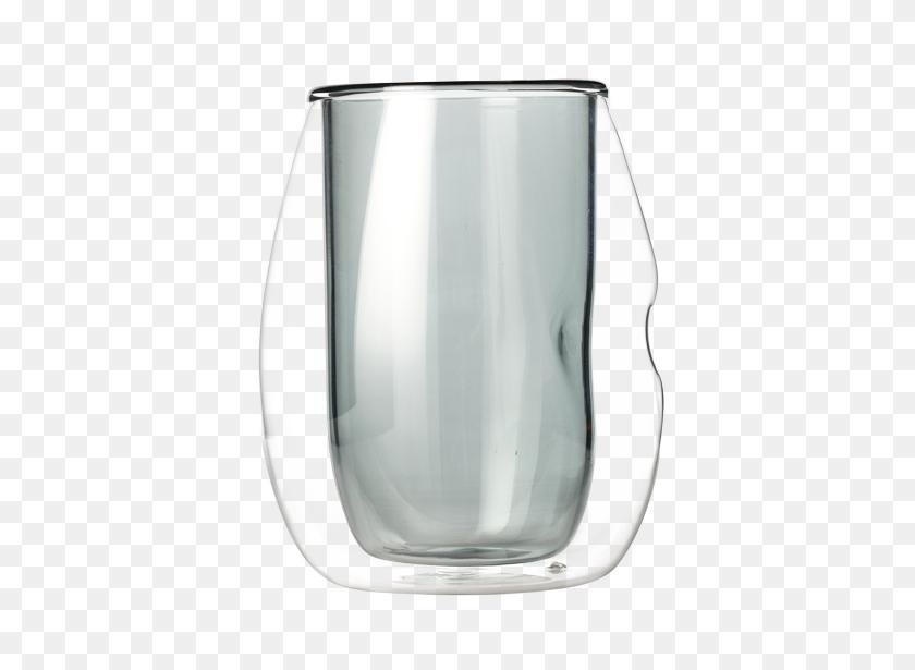 Indent Double Wall Glass Smokey Grey - Smokey PNG
