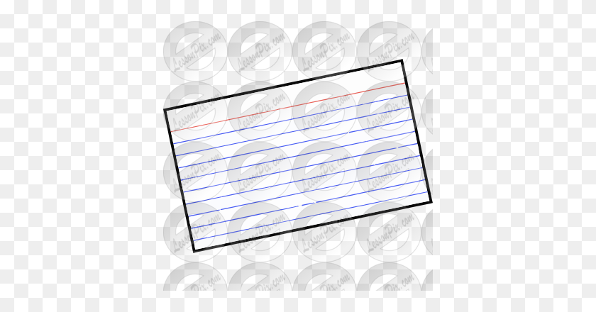 Index Card Picture For Classroom Therapy Use - Index Card Clipart