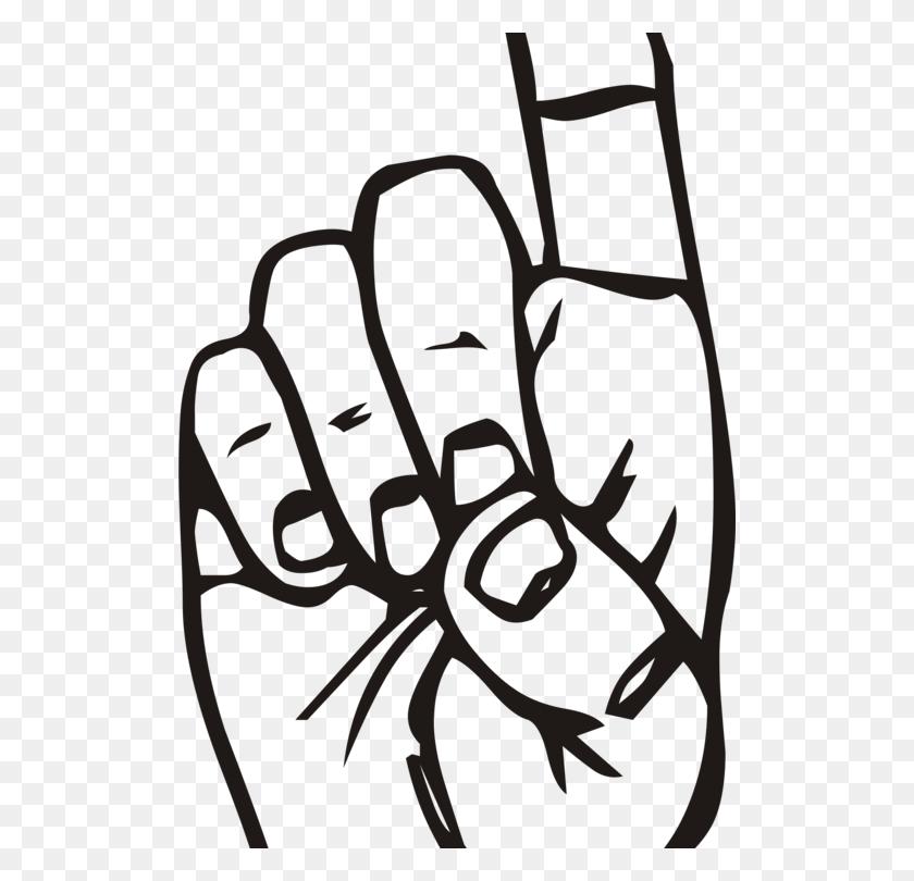 Index Finger Middle Finger The Finger Hand - Middle Clipart