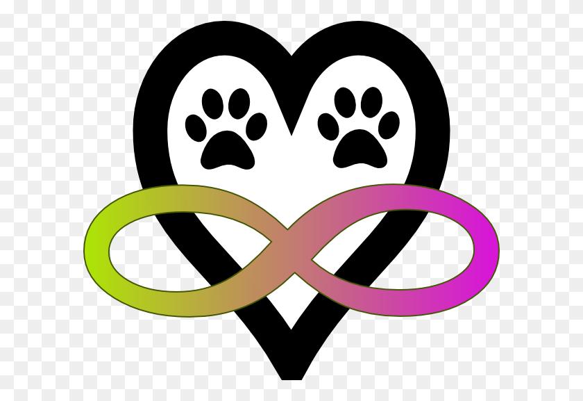 600x517 Infinity Tattoo With Dog Print Free Download Yellow Paw Print - Dog Paw Print Clip Art