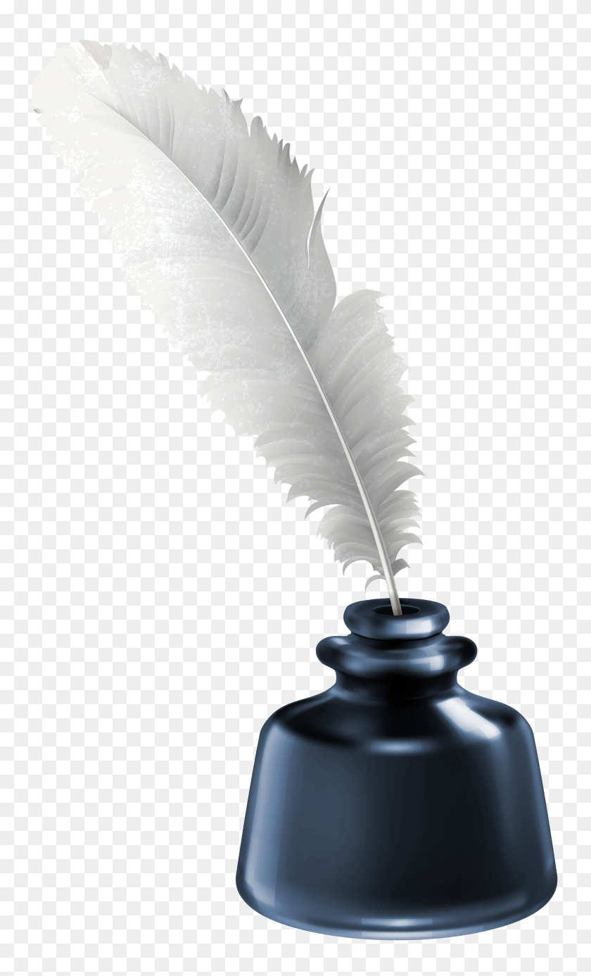 Ink Clipart Quill - Feather Clip Art Black And White