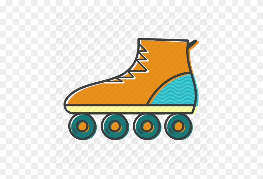 Inline, Roller, Skates, Skating, Sport Icon - Roller Skate PNG