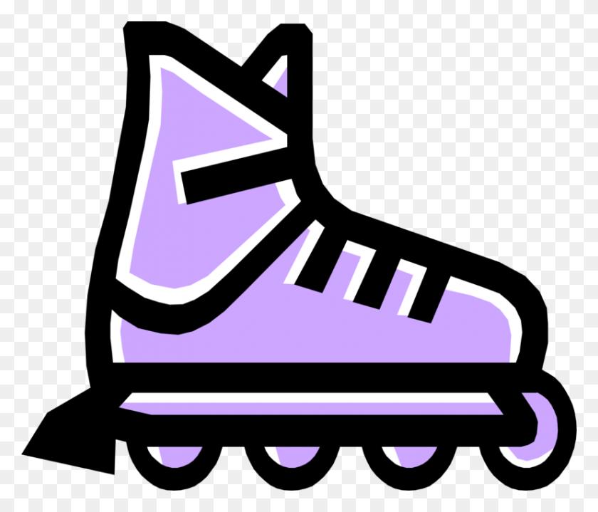 Inline Skate Or Rollerblade - Rollerblade Clipart