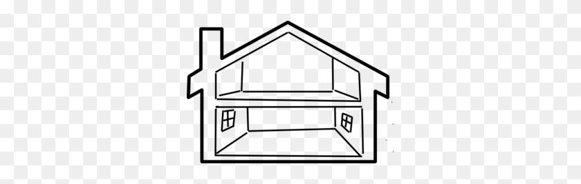 Inside House Outline Clip Art - House Clipart Outline