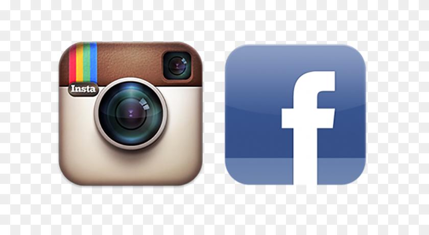 Instagram And Facebook Logos - Facebook Instagram Logo PNG
