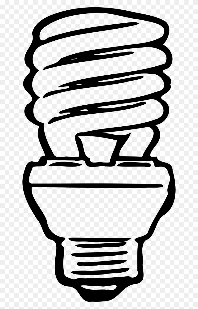 Intelligent Clipart Flourescent - Light Bulb Clipart Black And White