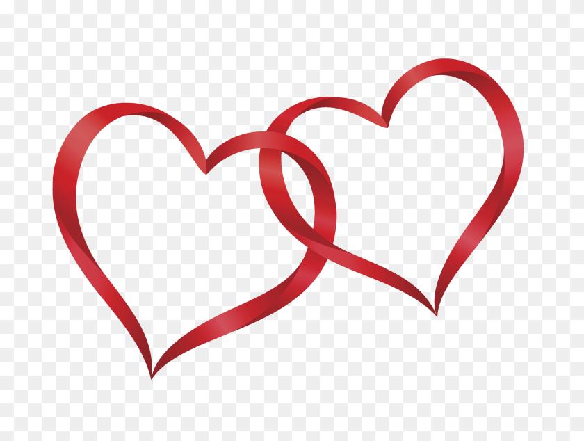 Interlocking Hearts Clipart Free Clipart - Two Hearts Clipart