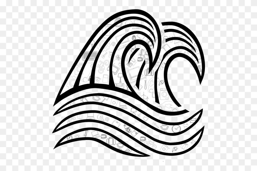 Waterdrop Clipart Ocean Splash - Ocean Waves Clipart Black And White