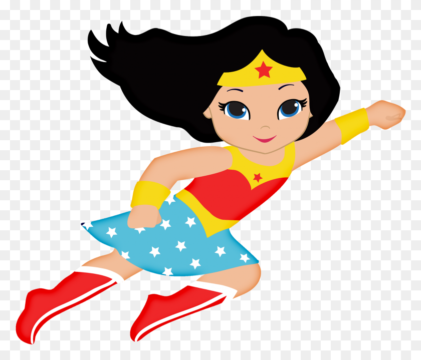 Invitations Mulher Maravilha - Wonder Woman Clipart