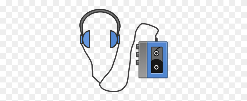 300x283 Ipod Headphones Clip Art - Mp3 Player Clipart
