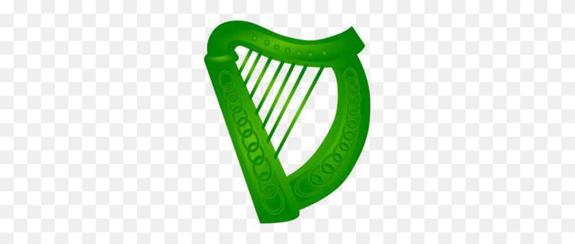 Irish Harp Green Clip Art - Lyre Clipart