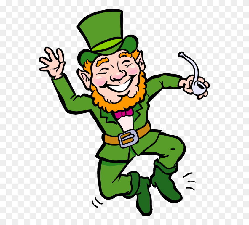 Irish Leprechaun Fairy Dances Jig Dancing Leprechaun Clipart