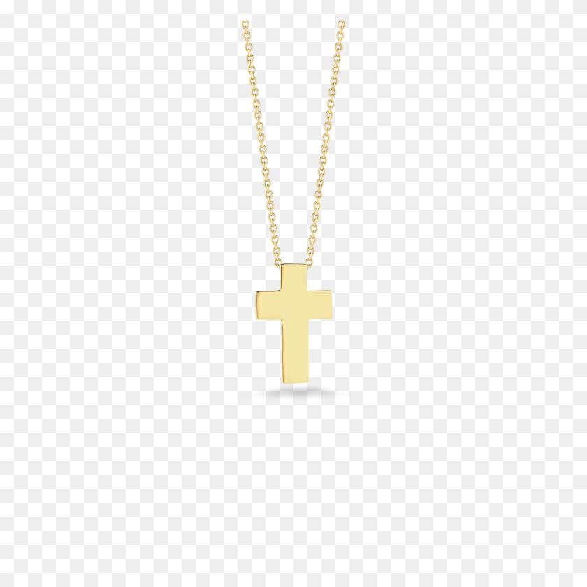 Italian Gold Cross Pendant For Gift - Gold Cross PNG