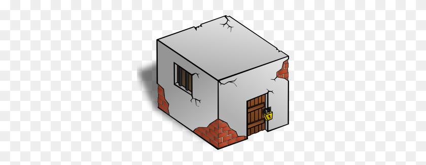 Jailhouse Clip Art - Old House Clipart