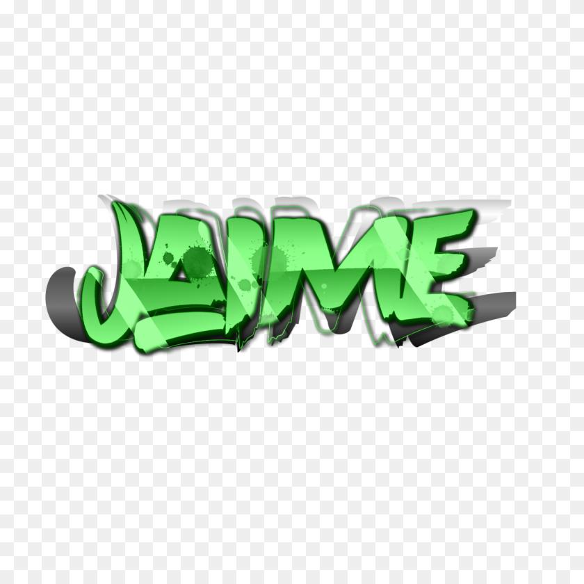 1280x1280 Jaime Png Verde Green Letras - Letras PNG