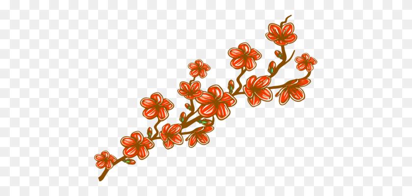 Japanese Language Flower Cherry Blossom Drawing - Japanese Cherry Blossom Clip Art