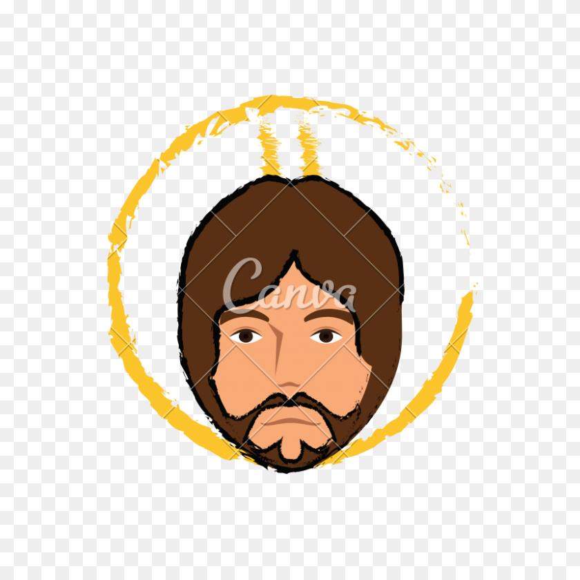 Jesus Christ Face Sketch - Jesus Face PNG