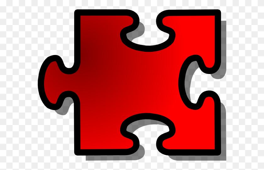 600x484 Jigsaw Puzzle Piece Clip Art Free Vector - Free Clipart Puzzle Pieces