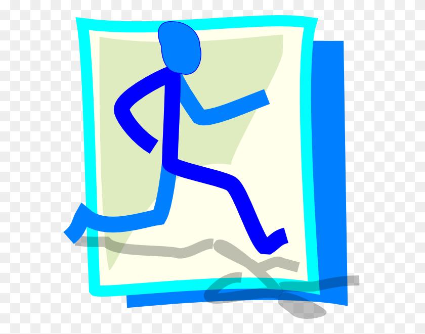 Jog Blue Cartoon Jogging And Clip Art - Persuade Clipart