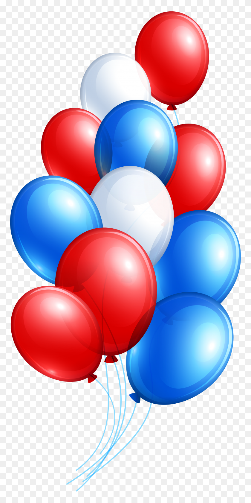 3848x8000 July Balloon Bunch Png Clip Art - Up Balloons Clipart