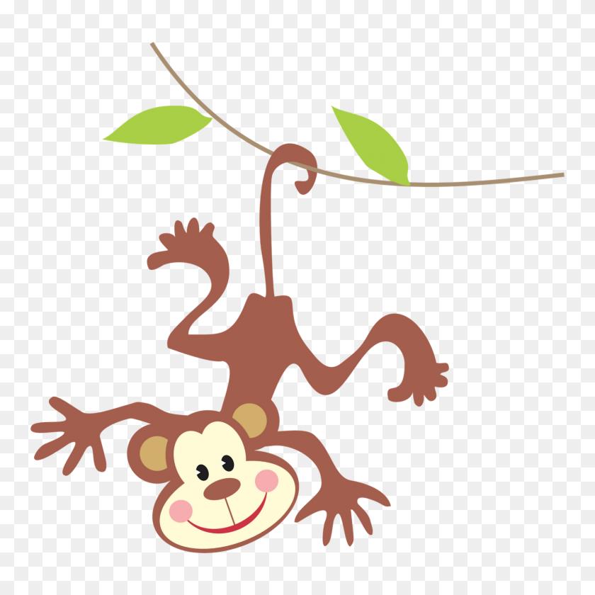 Jungle Clipart Rainforest Monkey - Rainforest Clipart Black And White