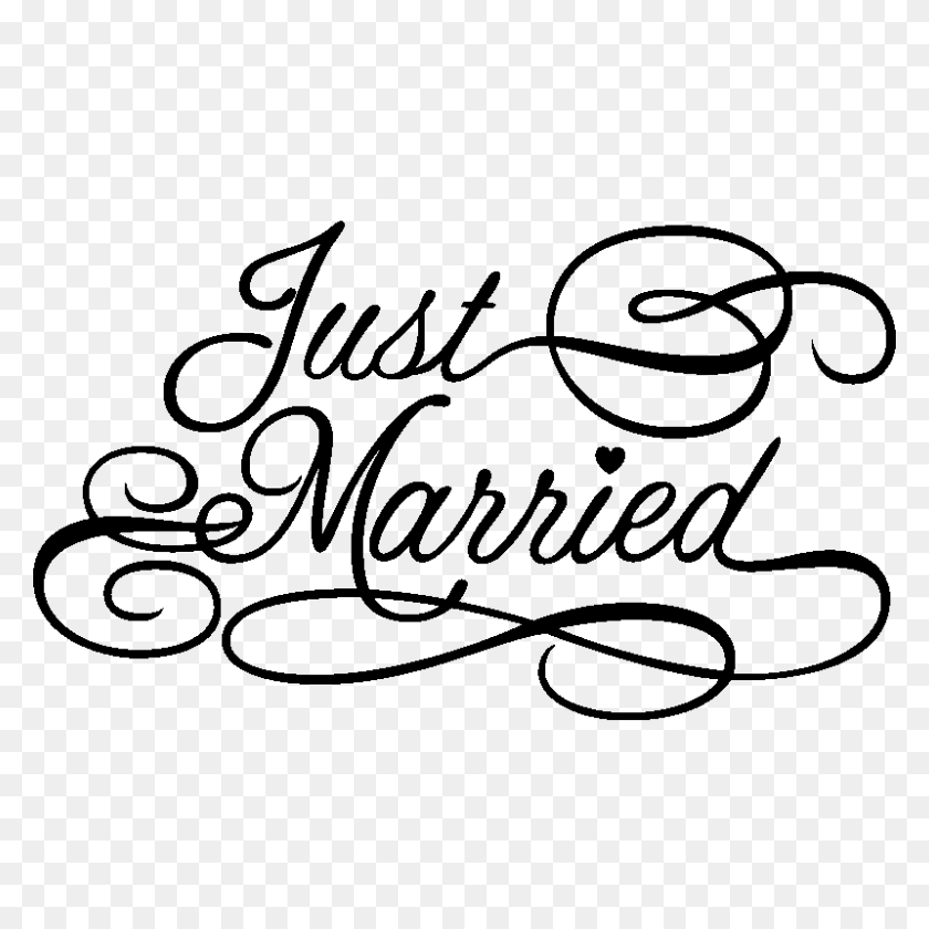 Just Married Clipart Png, Just Married Clipart Picture - Just Married Clipart