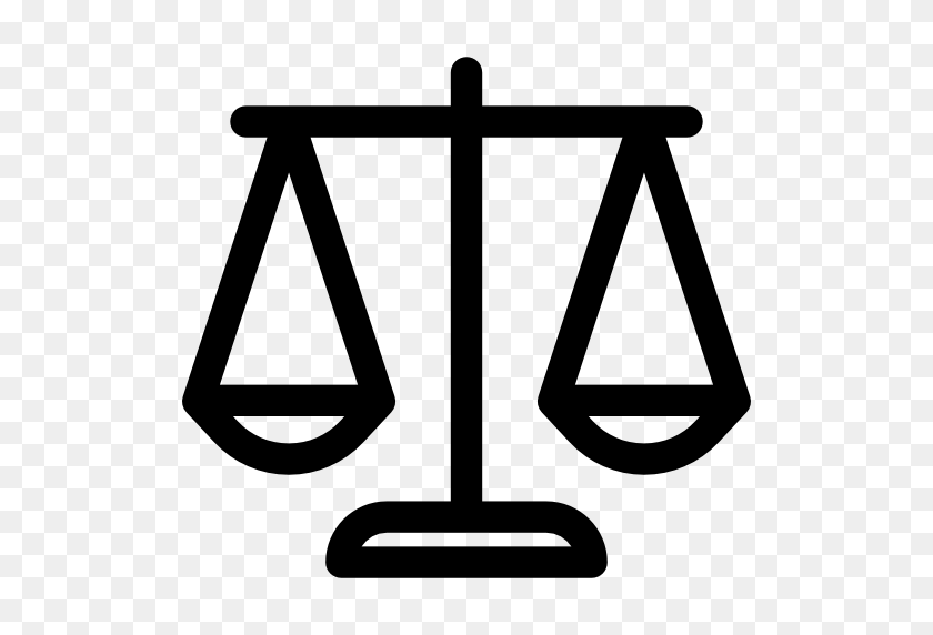 Justice Scale Icon - Scales Of Justice PNG