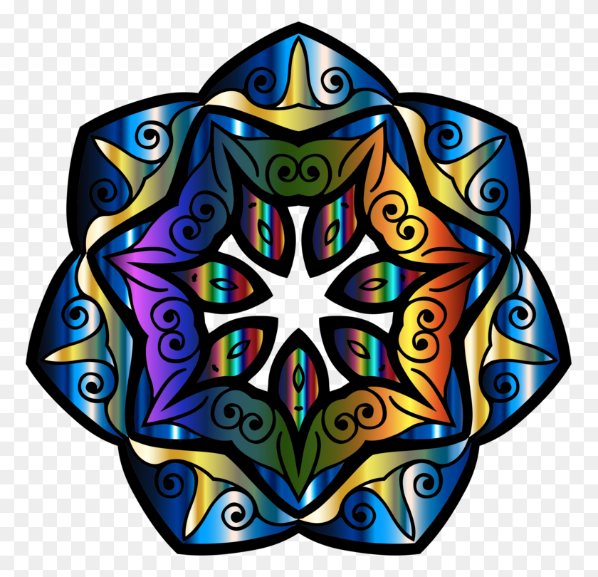 767x750 Kaleidoscope Mandala Floral Design Sharingan Symmetry Free - Mandala Clipart