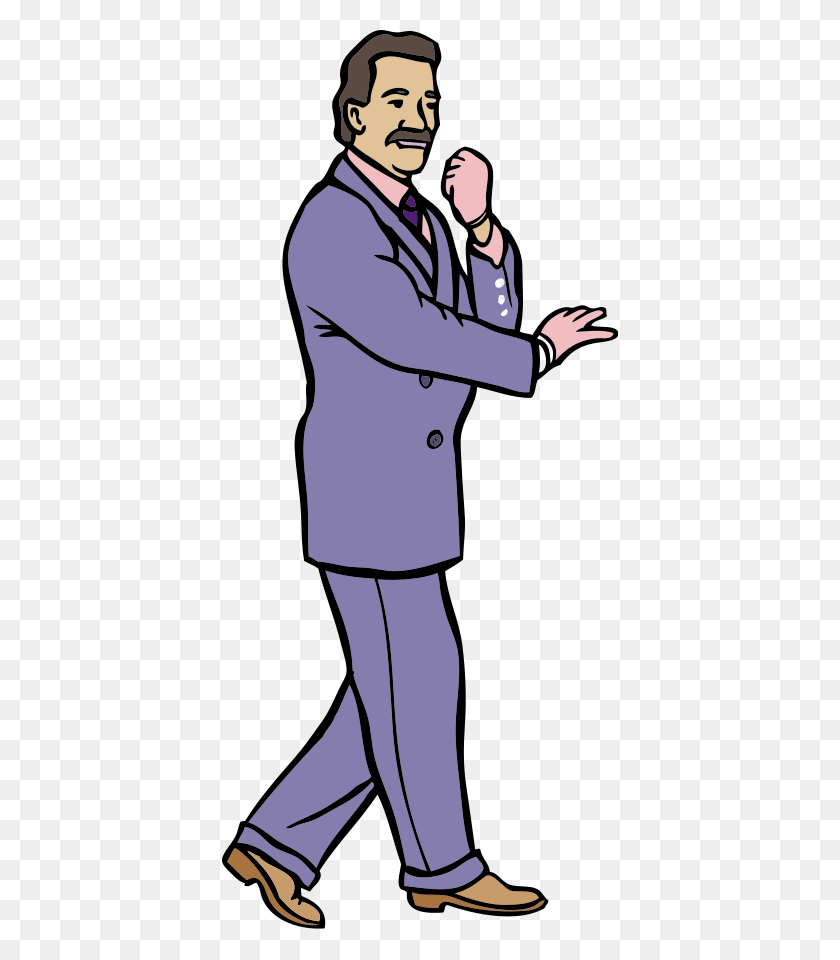 Karate Guy In A Fashionable Purple Suit W Gloves Png Clip Arts - Guy PNG