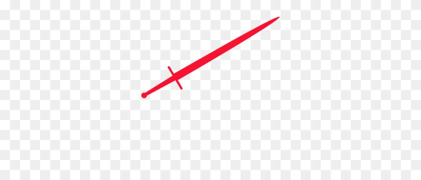 Katana Clipart Red - Samurai Sword PNG