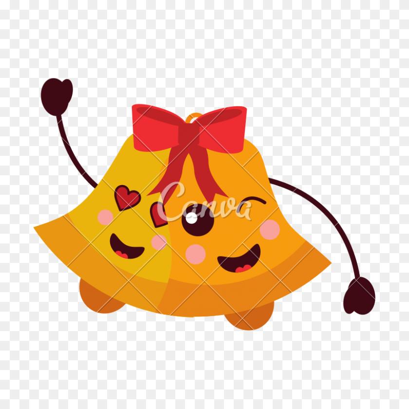 Kawaii Christmas Jingle Bells Happy And Love - Jingle Bells PNG