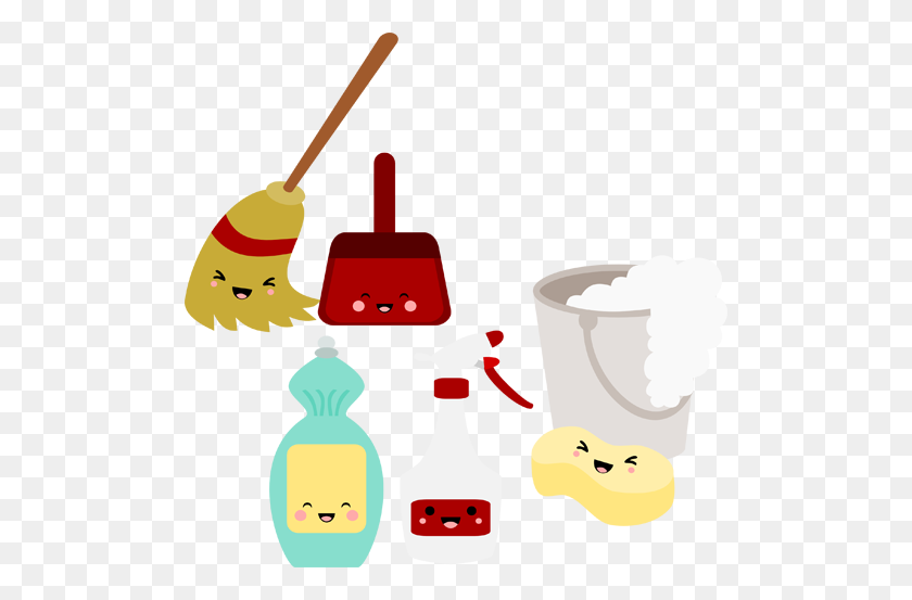 Kawaii Cleaning Cards Cleaning, Kawaii And Clean Up - Window Cleaning Clip Art