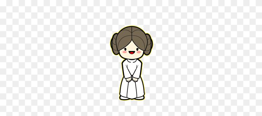 Kawaii Princess Leia E V E N M O R E S T A R W A R S - Princess Leia Clipart