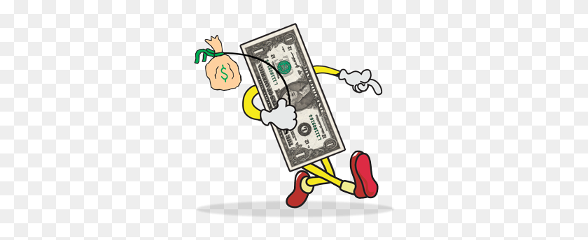 Keeping Track Of Where Your Money Goes Literally Other World - One Dollar Bill Clipart