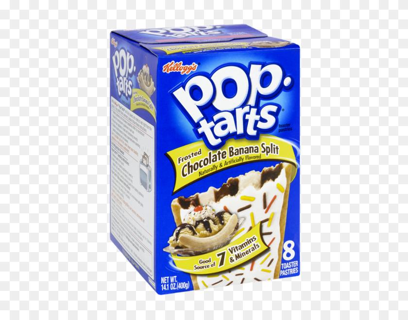 Kellogg's Pop Tarts Frosted Chocolate Banana Split Flavor - Poptart PNG