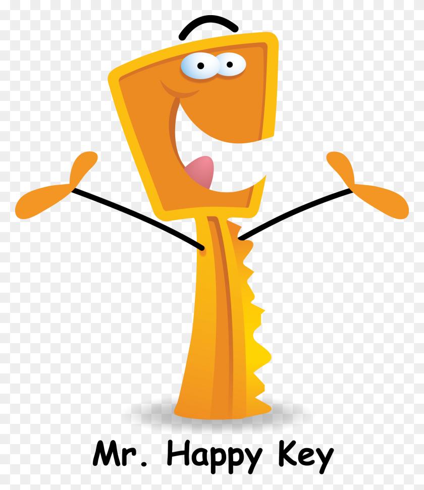 Key Clipart Happy - Piano Keys Clipart