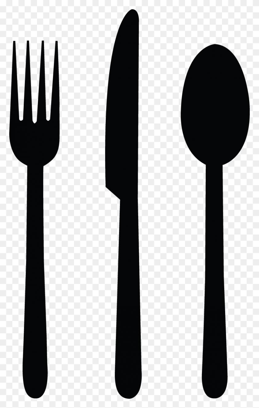 Khife Clipart Black Fork - Supper Clipart