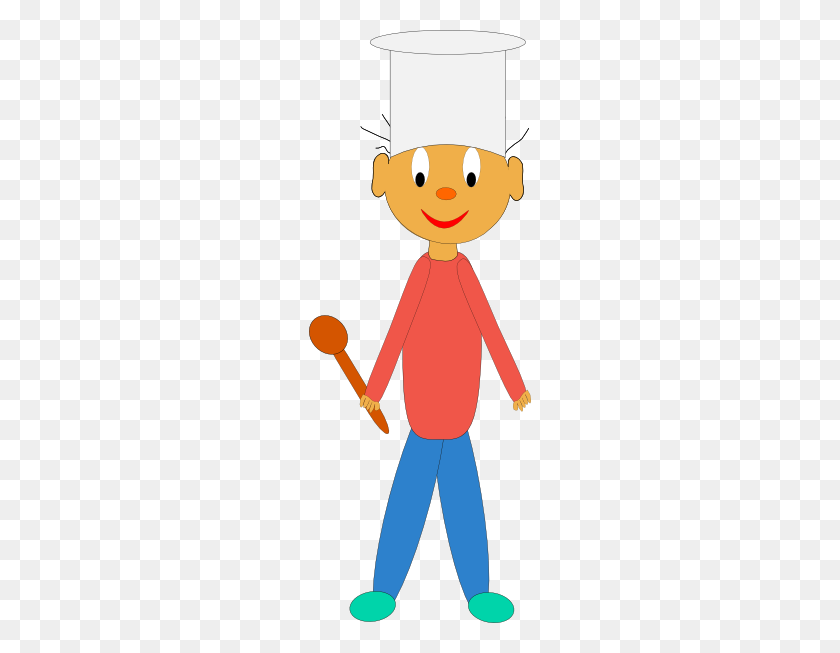 Kids Cooking Clipart - Make Dinner Clipart
