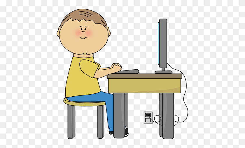 Kids On Computer Clipart Clip Art Images - School Kids Clipart