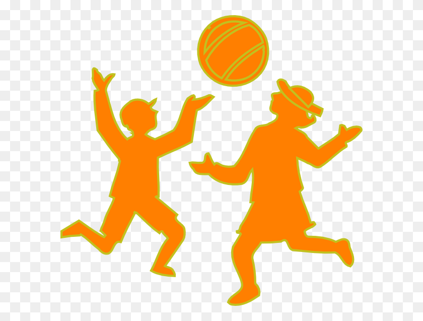 Kids Playing Ball Clip Art - Kids Playing Basketball Clipart
