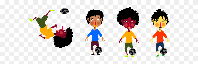 Kids Playing Soccer Clip Art - Kids Playing Soccer Clipart