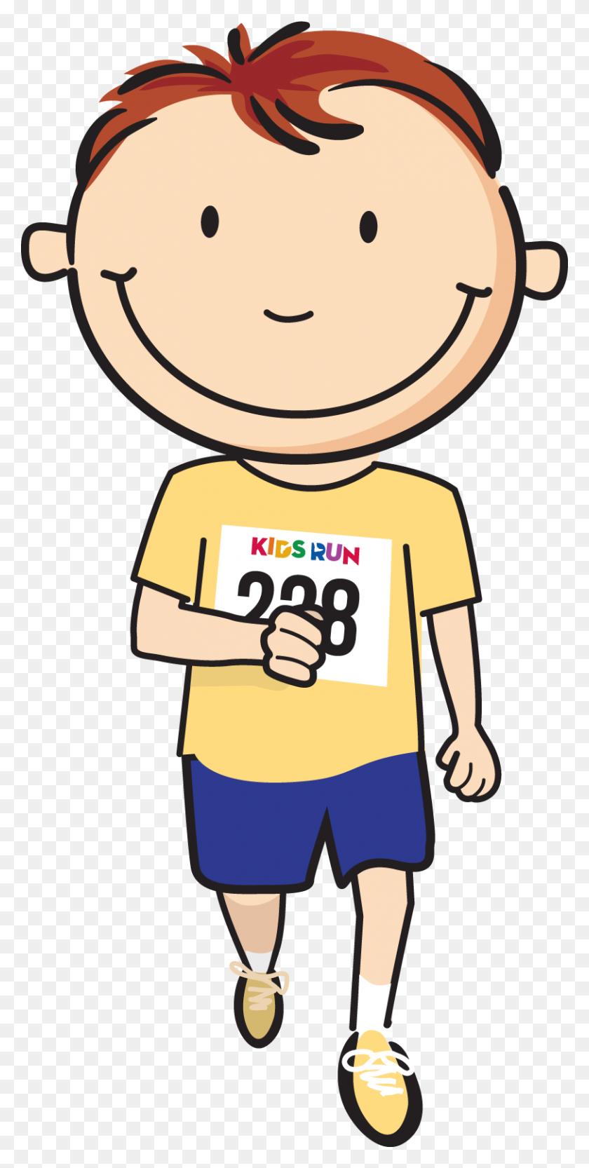 812x1672 Kids Race Cartoon - Sack Race Clipart