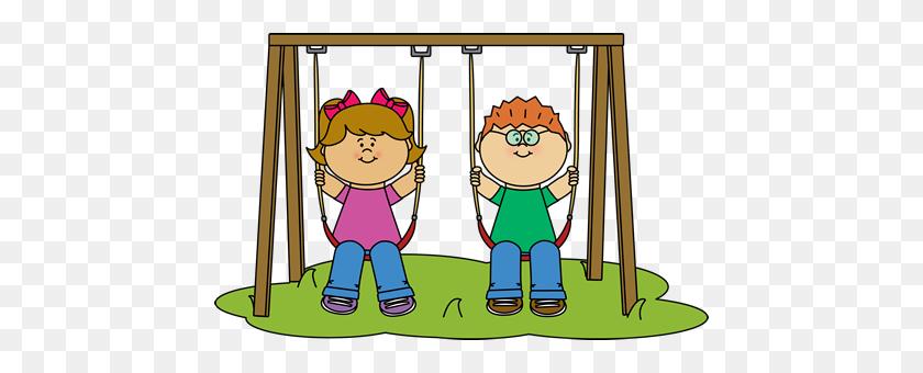 Kids Swinging Clip Art De Rutinas, Reglas Y - Sleeping In Class Clipart