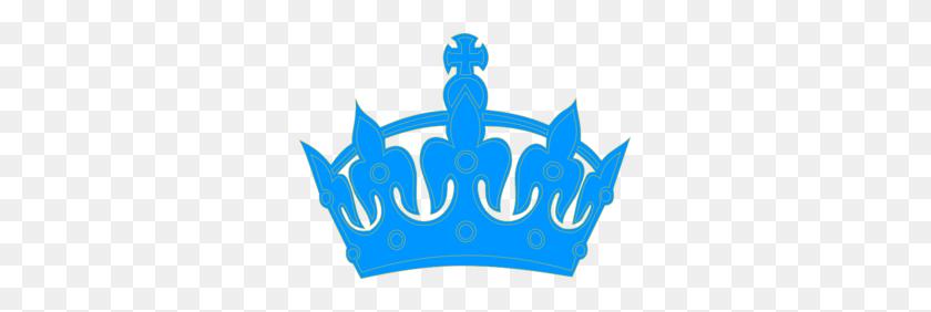 299x222 King Crown Clip Art Blue - King Crown Clipart