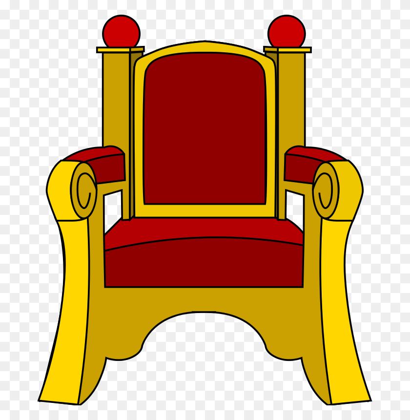 King On Throne - King Tut Clipart