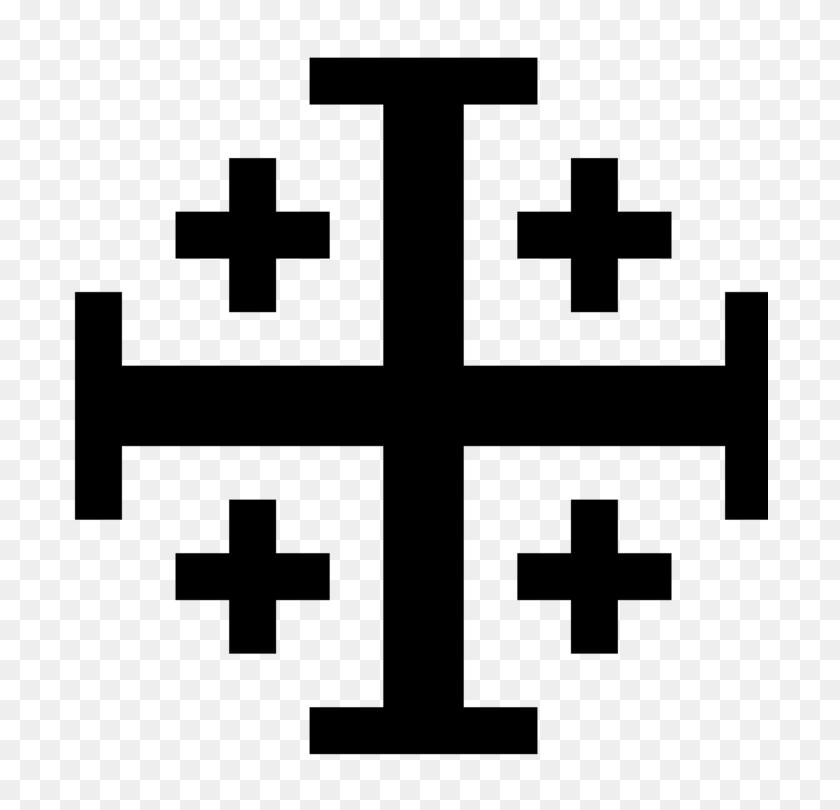 Kingdom Of Jerusalem Jerusalem Cross Crusades Christian Cross Free - Ornate Cross Clipart